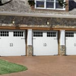 three single garage doors