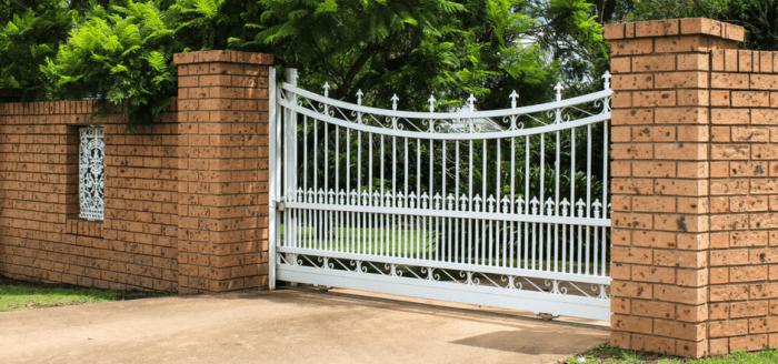 Aluminum Single Swing Driveway Gates