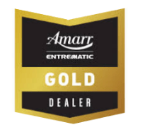 Amarr garage door dealer badge