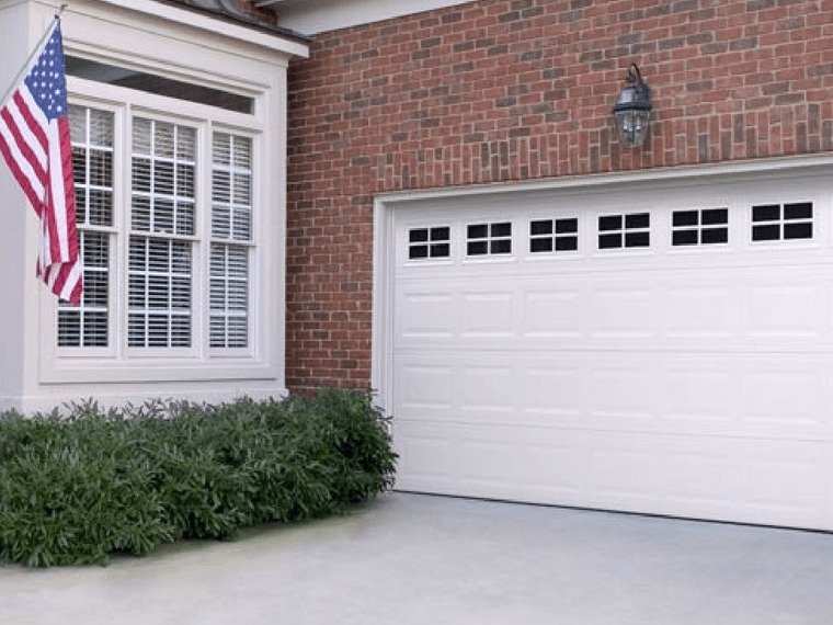 olympus garage door with windows