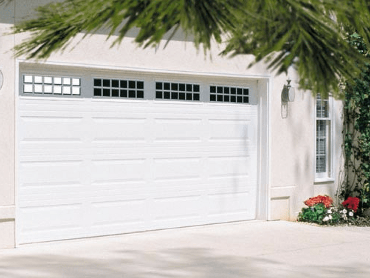 Stratford garage door with windows