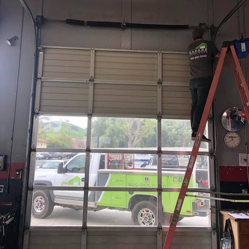 garage door installation for local business