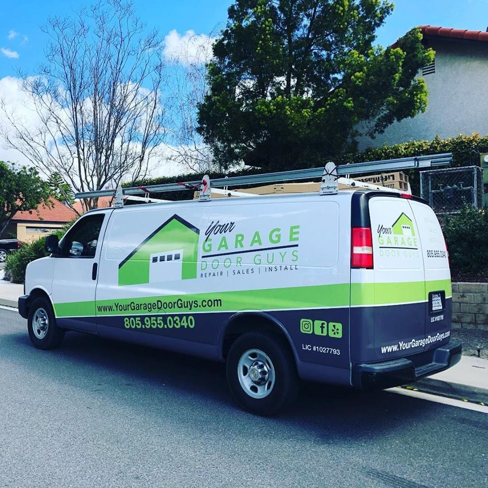 pacific palisades garage door service van