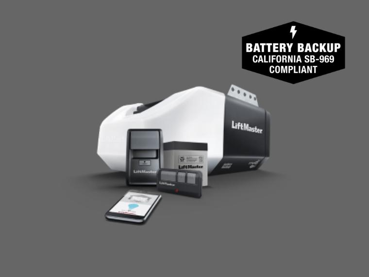 8160WB DC Battery Backup Chain Drive Wi-Fi Garage Door Opener