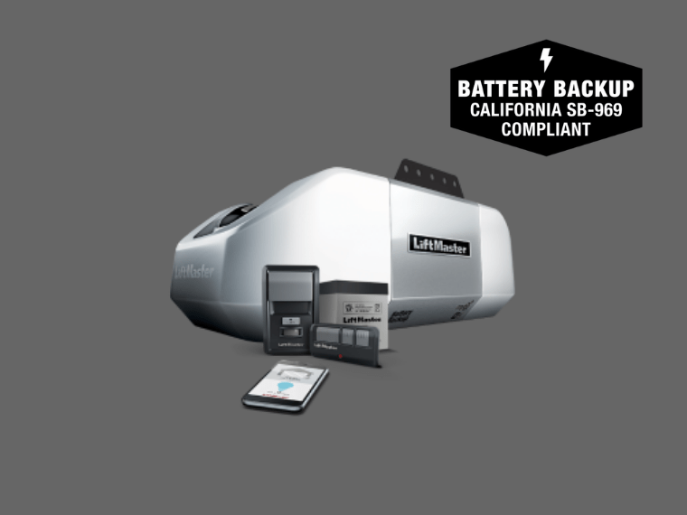 8360 WLB DC Battery Backup Chain Drive Wi-Fi Garage Door Opener