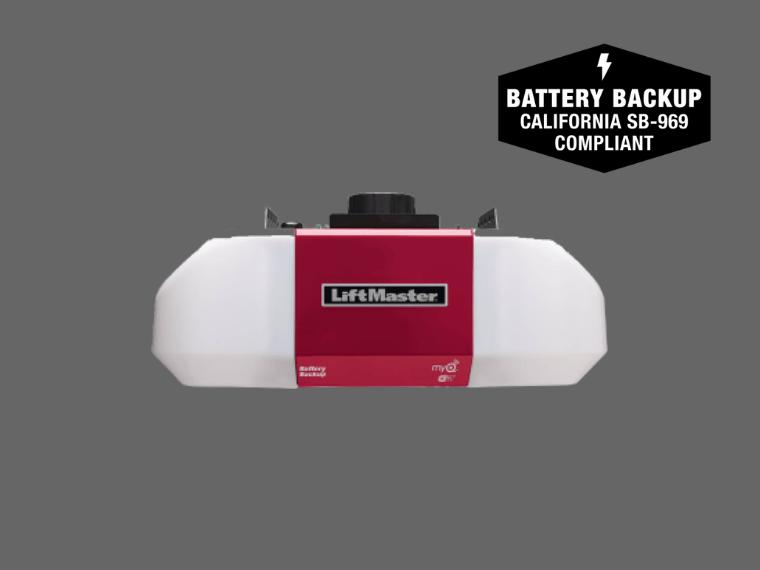 8550W DC belt drive wi-fi garage door opener with backup battery
