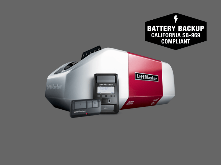 8550WLB DC Battery Backup Belt Drive Wi-Fi Garage Door Opener with smart control panel