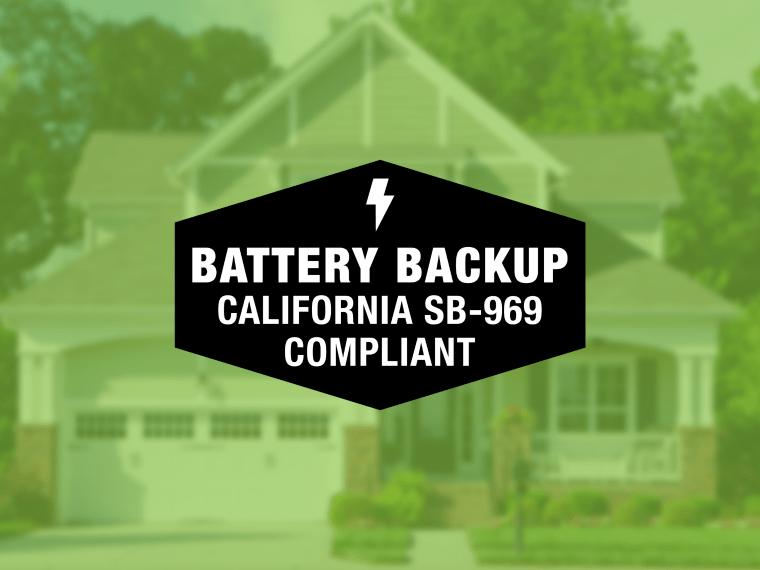 Garage door opener with battery backup